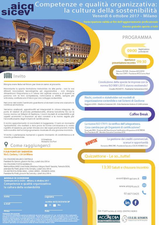 """Intervento di CO.E. RI. KOSMOS al Seminario AIC SICEV """"Competenze e Qualità Organizzativa: la cultura della Sostenibilità"""""""