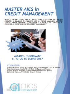master credit risk management milano 2017