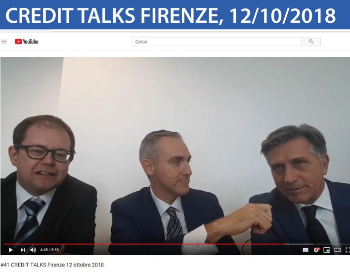 Credit Talks Firenze 2018