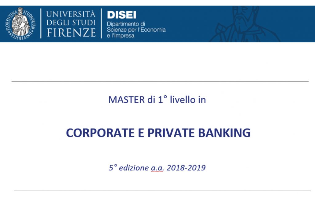 Master Firenze Corporate e Private Banking - Firenze 2018