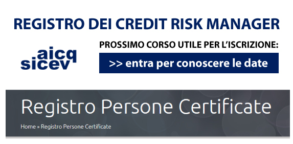 REGISTRO CREDIT RISK MANAGER AICQ SICEV