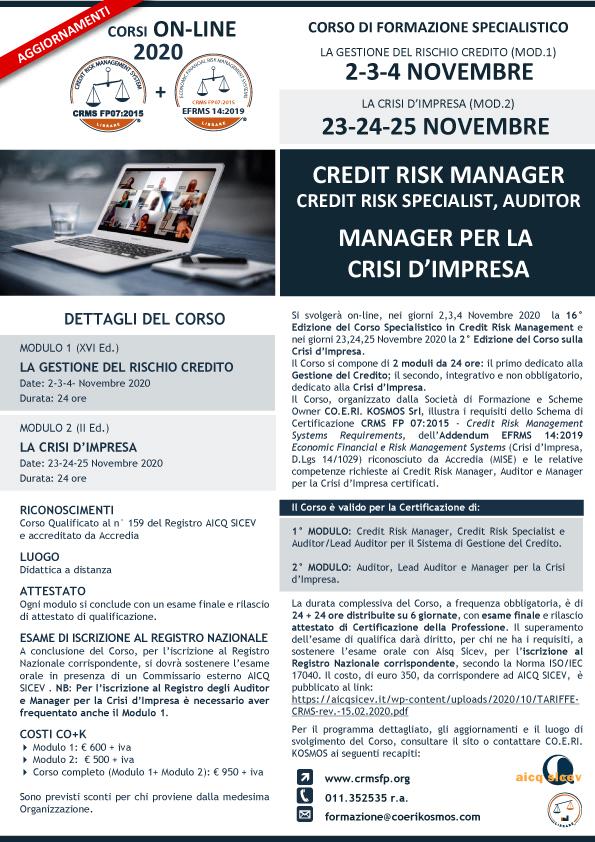 Formazione Manager per la Crisi d'Impresa